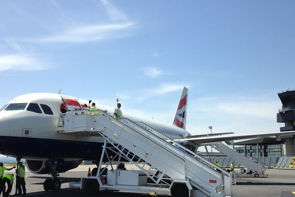 Premier vol de British Airways entre Londres et Limoges le 28 mai 2017