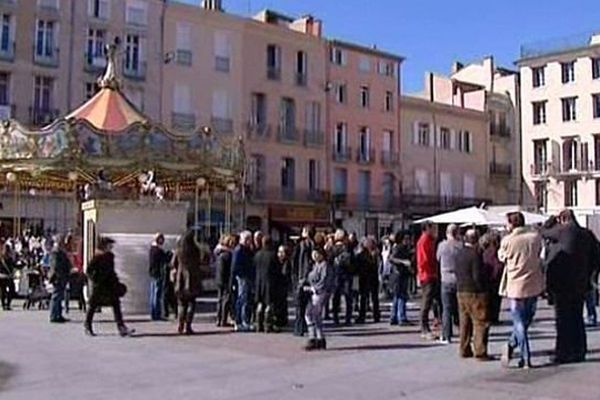 Perpignan - manifestation des commerçants - 6 mars 2014.