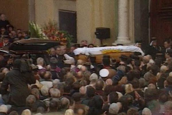 Enterrement de Jacques Médecin en novembre 1998.