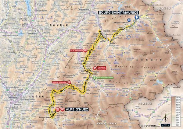 La carte de la 12e étape du Tour 2018