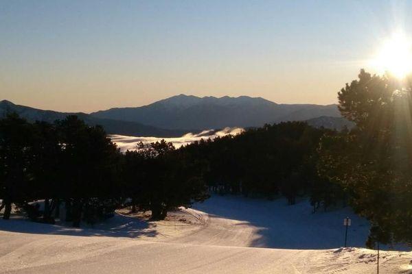 La station de ski de Formiguères, dans les Pyrénées Orientales