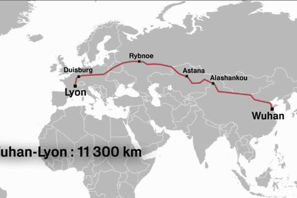 Le train de fret a traversé sept pays.