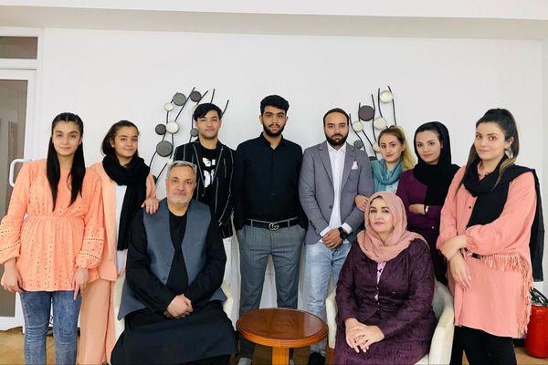 Hakimullah Ghazniwal et sa famille afghane ont trouvé asile à Montpellier - 2021.
