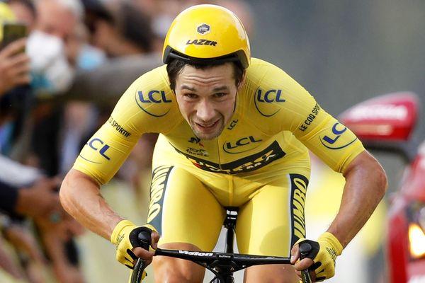 Primoz Roglic dépossédé du maillot jaune après la victoire de Pogocar dans le contre la montre de la Planche des Belles Filles.