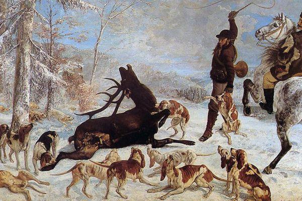 L'Hallali du cerf de Gustave Courbet