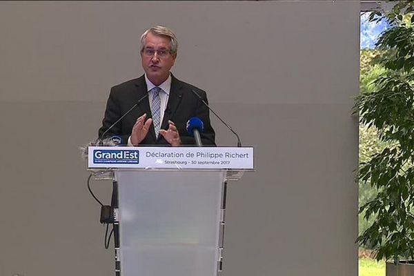 Philippe Richert sera resté à peine deux ans à la tête du conseil régional Grand Est.