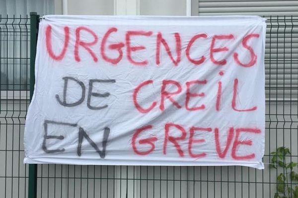 """""""Urgences de Creil en grève""""."""