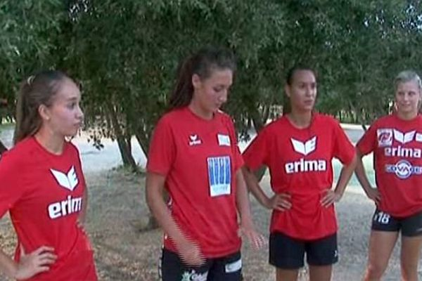 Nîmes - les filles du HBCN - juillet 2014.