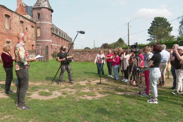 Le tournage de la série Fixion au château de Beaucamps-le-jeune dans la Somme - Septembre 2020
