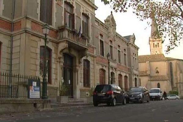 La mairie de Montlaur, dans l'Aude - 7 novembre 2015
