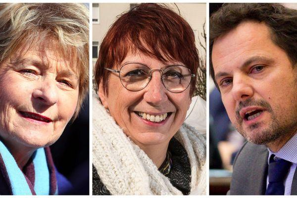 Marie-Guite Dufay (PS), Anne Vignot (EELV), Jérôme Durain (PS)