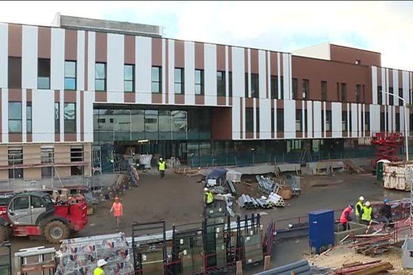 Le chantier de construction du nouvel hôpital de Libourne, actu du 8 février 2017