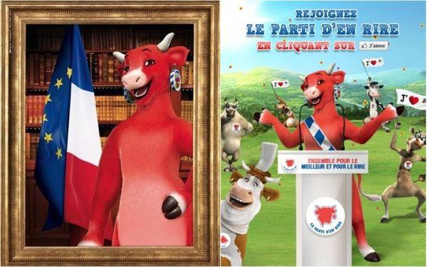 La Vache Qui Rit candidate à l'élection présidentielle 2012