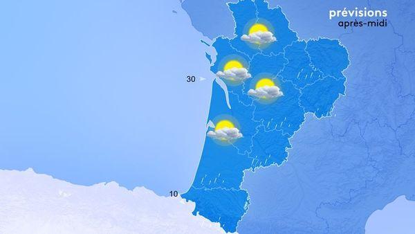 Les bruines ou de petites pluies intermittentes arrosent notre région