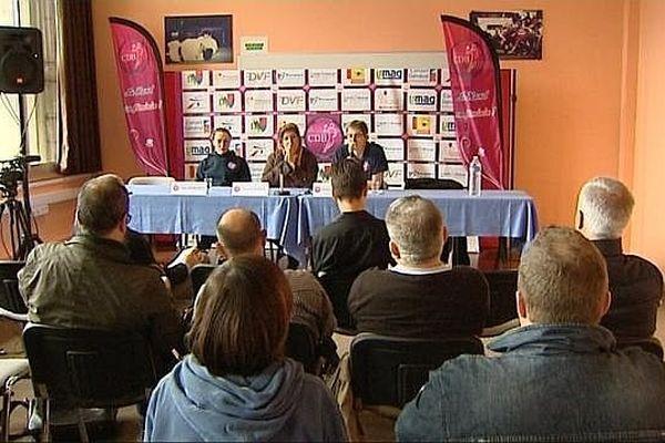 La conférence de presse du CDB, le 22 mai 2013 à Dijon.