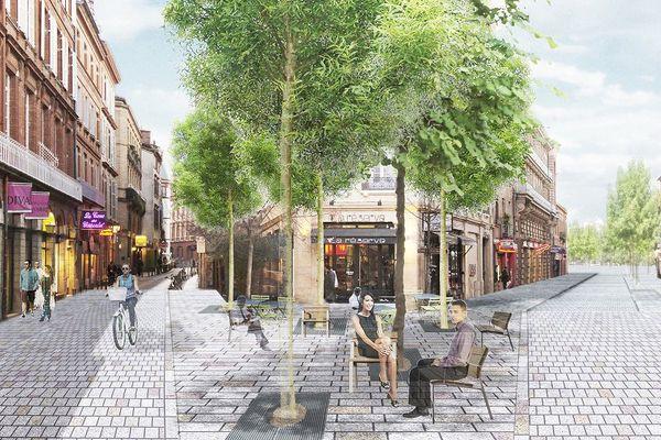 Une vue de la future rue Gambetta