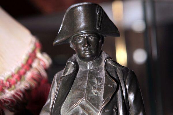 Montpellier, 8 décembre 2015. Statue en bronze de Napoléon.