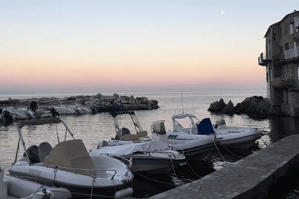 Fin de journée sur Erbalunga, Cap Corse