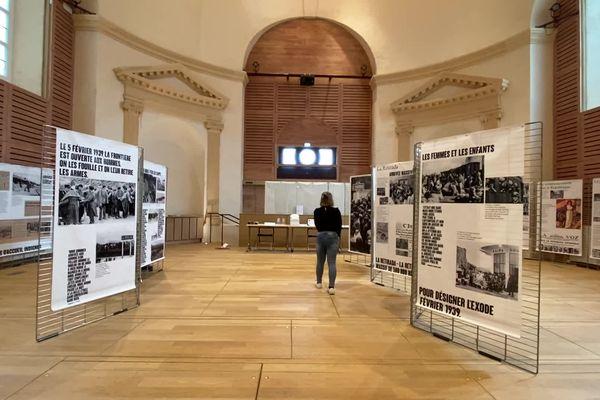 """Découvrir la """"Retirada"""" espagnole grâce au Secours Populaire, à la chapelle de la Visitation à Limoges."""