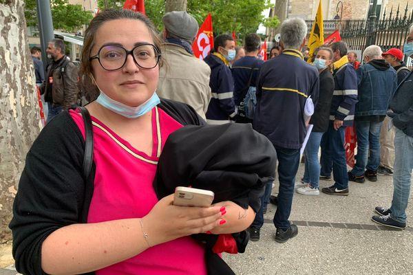 Cahors - Maitre Alexandrine Salinas Perez avocate des 7 postiers lotois assignés en justice lors d'une manifestation - 15 juillet 2021.