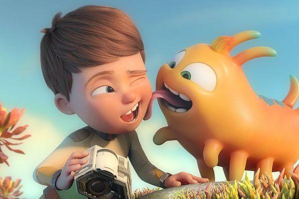 Le jeune Willy et Flash son petit compagnon extra-terrestre