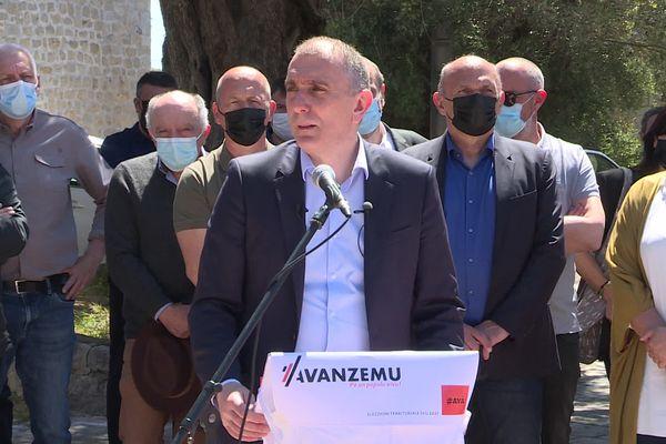 """Jean-Christophe Angelini conduit la liste """"Avanzemu !""""  pour les élections territoriales des 20 et 27 juin prochains."""