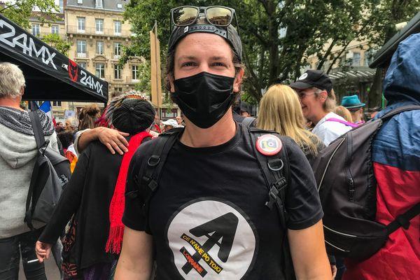 Kevin, président du Bloc lorrain et organisateur de la manifestation anti-pass sanitaire de Nancy.