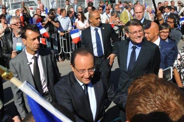 François Hollande à Denain ce mardi 3 septembre à Lille, pour la rentrée scolaire.