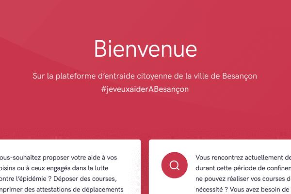 La ville de Besançon lance une plateforme d'entraide pendant le confinement du coronavirus.