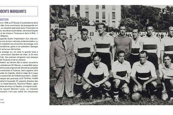La première équipe de l'histoire du TFC remporte son 1er match contre Bordeaux 3-2 le 22 août 1937.