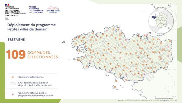 """"""" Petites villes de demain """" Bretagne"""