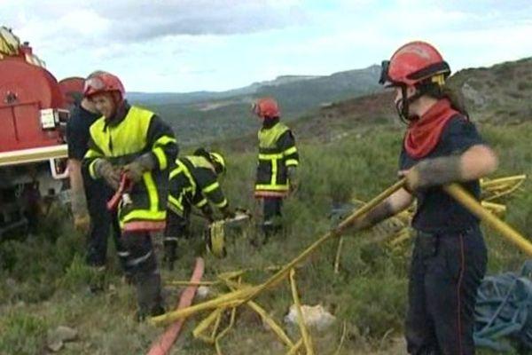 Premier incendie de l'été 2013 près de la commune de l'Estagel