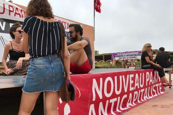 A Leucate, comme chaque année, le nouveau parti anticapitaliste organise son université d'été.