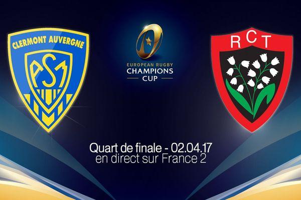 Le quart de finale de la coupe d'Europe de rugby se jouera le dimanche 2 avril 2017, au stade Marcel-Michelin, à Clermont-Ferrand.