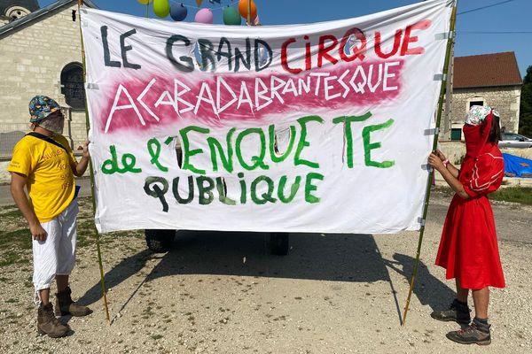 Les manifestants s'opposent à la déclaration d'utilité publique du projet Cigeo.