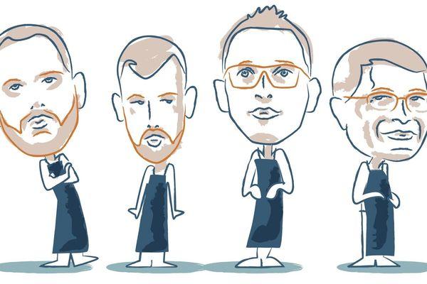 Quatre chefs finistériens croqués, livrent leurs recettes à croquer !