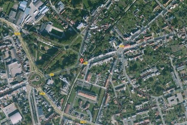 L'accident s'est produit dans la nuit, rue Aristide Briand à Abbeville.