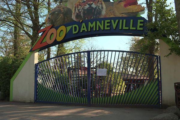 L'entrée du Zoo d'Amnéville (Moselle).