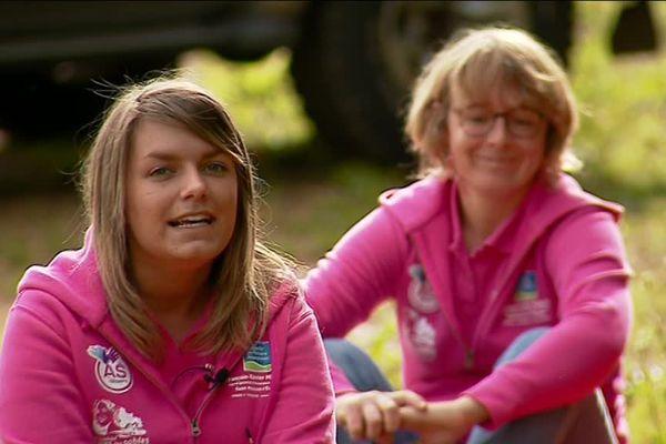 Laura Aubineau et Anne Morin avant le départ du Trophée Roses des Sables.