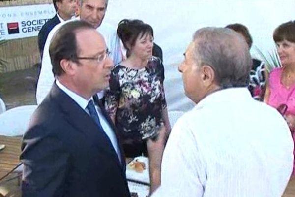 François Hollande a parlé transports avec des élus locaux.