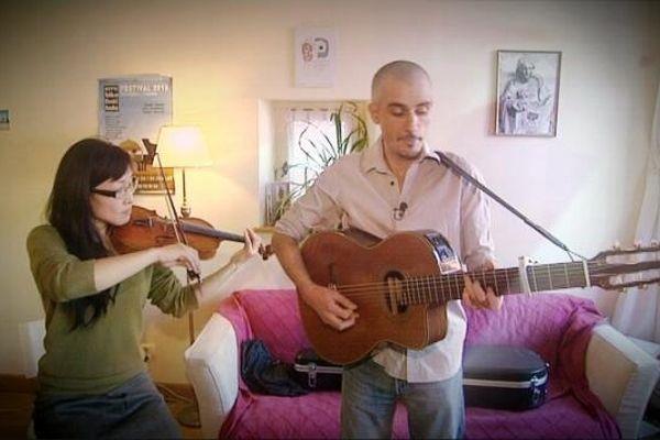Yoko et Ludovic du groupe Ludovic BA