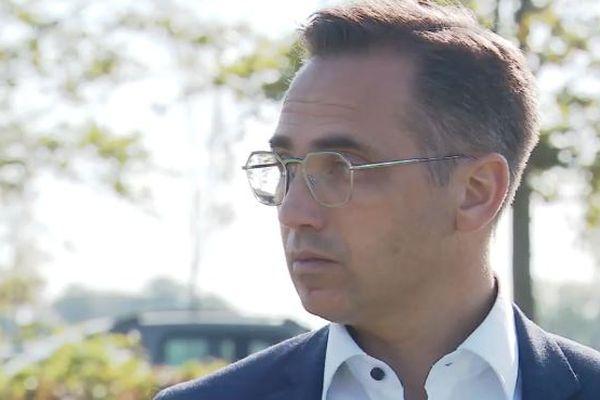 Le maire de Sablé-sur-Sarthe Nicolas Leudière