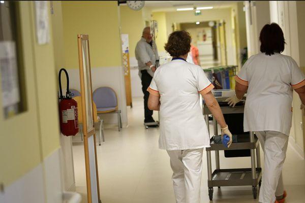Le personnel d'un hôpital (illustration).