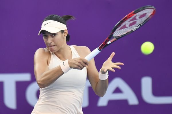 Caroline Garcia sortie en quart-de-finale de l'Open de Doha, au Qatar, par Garbiñe Muguruza, 3-6 6-1 6-4 - 16 février 2018