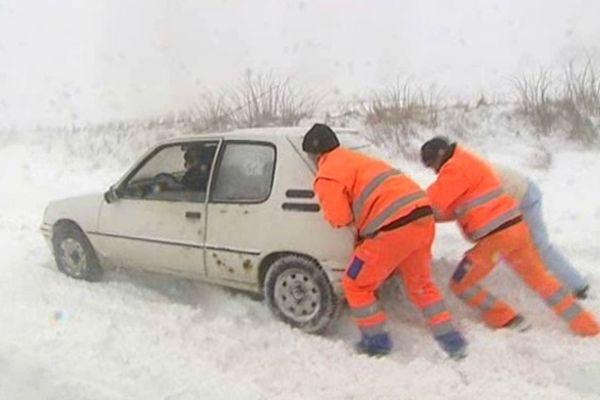 Hérault : les haut-cantons sous la neige - 2012.