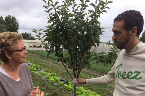 Grâce à la société d'Alexis Krycève, l'association de Joëlle Hamel a pu planter des arbres fruitiers dans son jardin de réinsertion.