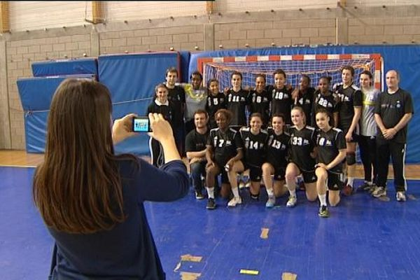 Les championnes de l'Interpoles de Handball : l'équipe d'Ile de France Ouest