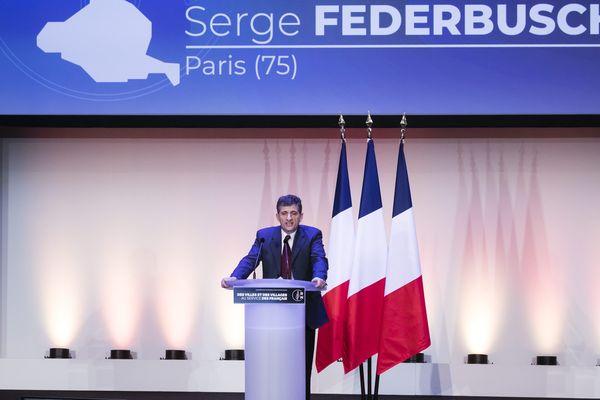 Le candidat soutenu par le Rassemblement national, Serge Federbusch lors d'un rassemblement du parti en janvier 2020.