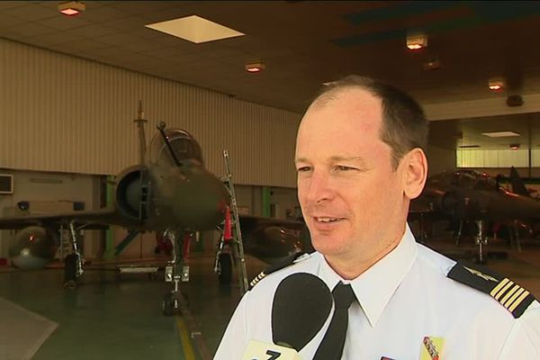 Le colonel Yann Bourion, prend le commandement de la base aérienne 133 de Nancy-Ochey, le 12 septembre 2018.