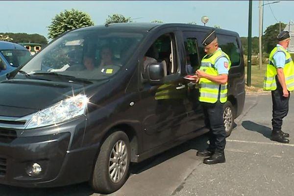 Les gendarmes réservistes peuvent être amener à travailler sur des opérations de sécurité routière.